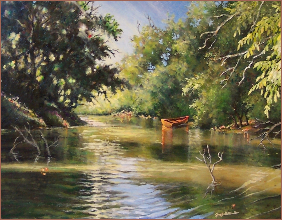 San Saba River At Barbara 39 S By Jane Felts Mauldin
